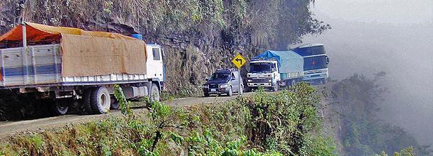Carretera peligrosa Bolivia